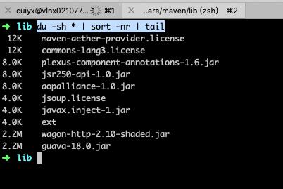 Linux查看当前目录下每个文件的大小